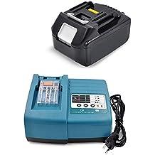 BL183018V3000mAh Ion de litio 18V, 3,0Ah Batería de repuesto & Cargador para Makita BL1830DC18RA DC18RC BL1840BL1850. bl1850b bl1840b BL1815bl1815b194204–5LXT 400(LG celdas)