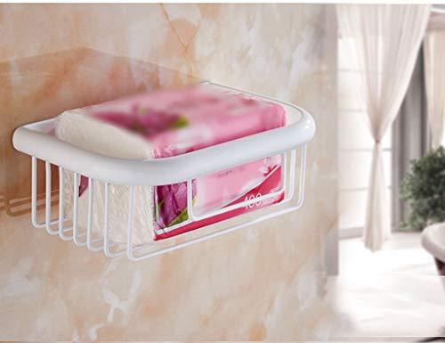 DX Handtuchhalter Tissue Basket Rollenhalter Tissue Basket Bad Toilettenpapierhalter Hand Bowl Punch Continental Gegrillte Weiße Farbe (Größe: 25 * 13 * 7,5 cm) - Wc Bowl Punch