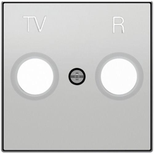 Niessen 8550 PL - Tapa Toma TV-R sin Filtro, Color Plata