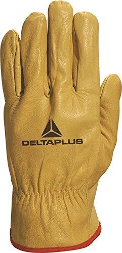 Delta Plus FBJA49 Peau vache Grain Glove Mens protection nouvelle main élastique yellow