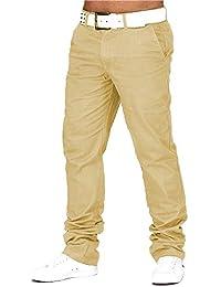 Herren Chino Hose Jeans Stoff-Hose H688
