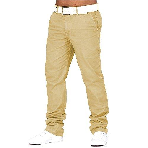 Herren Chino Hose DS ID 688 Straight Fit , Größen:W34 (Etikett 44);Farben:Sand (Leg Straight Hose-hosen)