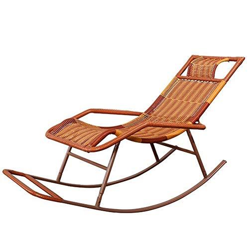 LIXIONG Schaukelstuhl All Wetter Lounge-Sessel PE Wicker Sessel Mit Kopfstütze Sonne Liegen Hinterhöfe Veranden Schaukeln Sitz, 5 Stil (Color : A) -