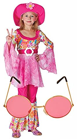 Girl Costume Hippie - Girls 60S 70S Flower Power Diva Hippy
