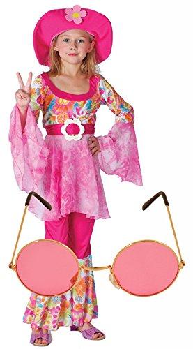 ippy Fancy Dress Costume + Pink Glasses Age 4-12 (4-6 Years) (60s 70s Fancy Dress Kostüme)