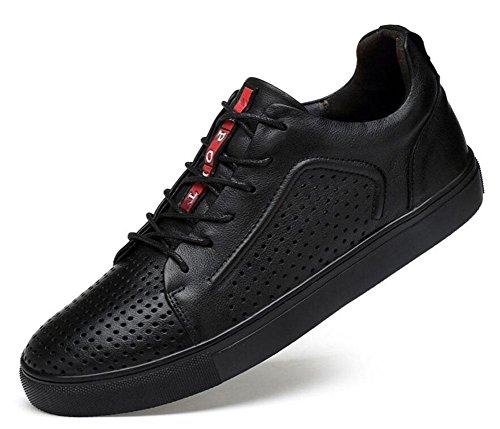 half off 48f91 ba9fc SHIXR Herren LaceUp Flats Schuhe Oxfords Skateboard Schuhe Breathable Leder  Sportschuhe Trend Business Casual Schuhe Erhöhte Herrenschuhe 3947 Größe  black ...