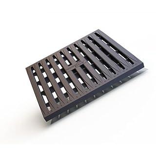 Rost Einlaufschacht Kunststoff schwarz, 288 x 288 x 27 mm