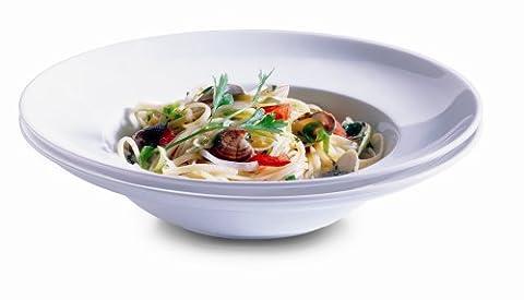 Domestic Orto 2-Piece 26.5 cm Porcelain Round Pasta Plate Set, White
