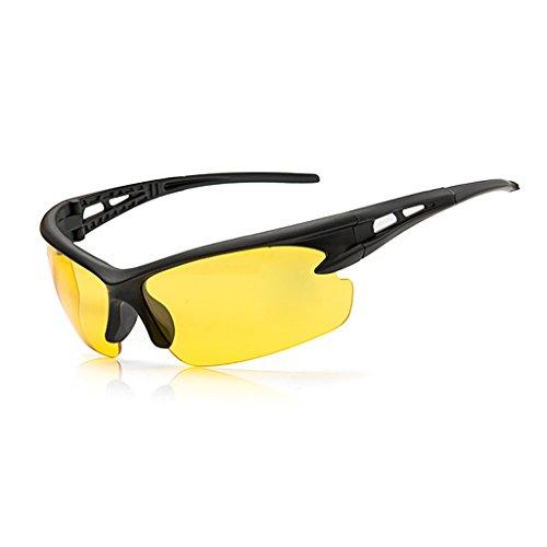 ZOOMY Radfahren Sonnenbrillen Anti-UV Brillen Reiten Fahrrad Sport Polarized Eyewear - Gelb