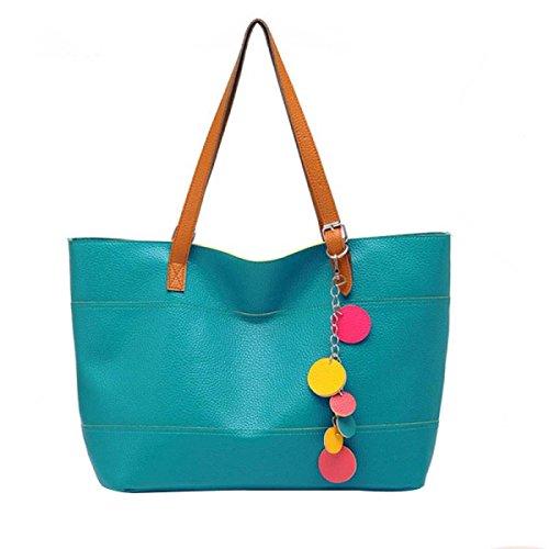 Frauen Lässig Quaste Schulterbeutel Handtasche Blue