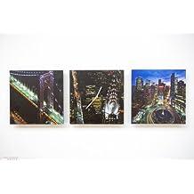 RELOJ DE PARED DISENO NUEVA YORK 3 PIEZAS RELOJ DE LA COCINA - MODERN NUEVO – Tinas Collection