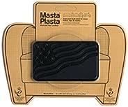 MastaPlasta - Parches AUTOADHESIVOS para reparación de Cuero y Otros Tejidos. Negro. Elije el tamaño y el dise