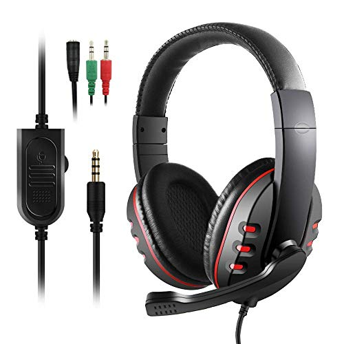 Cuffie Gaming per PS4 Xbox One, Cuffie Gaming Etpark, Cuffie Auricolari Stereo con Microfono e Cancellazione del Rumore in Ingresso, Controllo del Volume, per PS4 PC Tablet Laptop Smartphone Xbox One