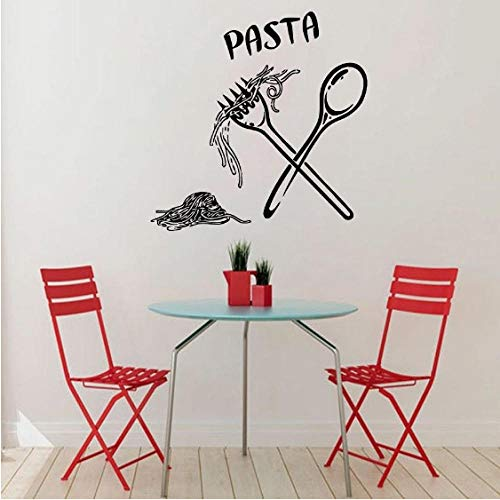 Dekorative Fliesen-wand-dekor (Wandaufkleber Lebensmittel Mahlzeit Löffel Gabel Aufkleber Wandtattoo Cafe Küche Fliesen Wand Dekorative Vinyl Wand Dekor 59 Cm x 59 Cm)