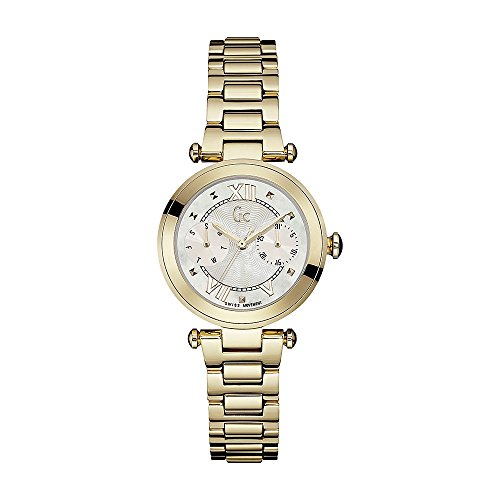 GUESS COLLECTION WOMEN'S LADY CHIC GOLD PLATED BRACELET QUARTZ WATCH Y06008L1