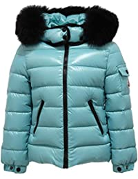 MONCLER 8058Y Piumino Bimba Girl Turquoise Jacket