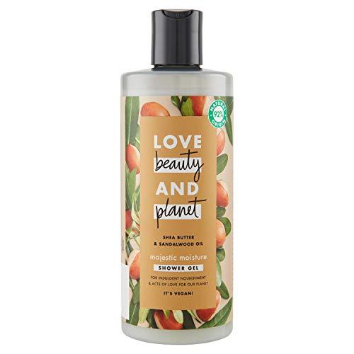 Love Beauty & Planet Bagnodoccia Gel con Burro di Karitè e Olio di Legno di Sandalo - 500 ml