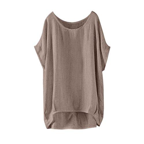 iHENGH T-Shirt Tops Damen Sommer Fledermaus Kurzarm Beiläufige Lose Tops Dünnschnitt Bluse Pullover - Körper Post-rüstung