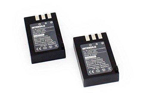 INTENSILO 2 x Li-Ion Akku 1100mAh (7.2V) für Videokamera Camcorder Fuji/Fujifilm FinePix S100, S100FS, S200, S200EXR wie NP-140. Finepix Camcorder