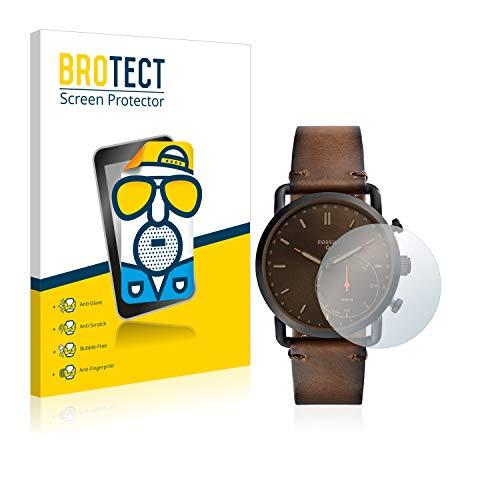 BROTECT Schutzfolie Matt kompatibel mit Fossil Q Commuter [2er Pack] - Anti-Reflex
