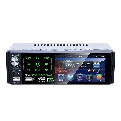HM2 RDS-Autoradios, 4,1-Touchscreen-Multimedia-MP5-Player, Auto-Stereo-Radio-Bluetooth, Support-Mikrofon und Rückfahrkamera - Schwarz (Mp5 Multimedia-player)