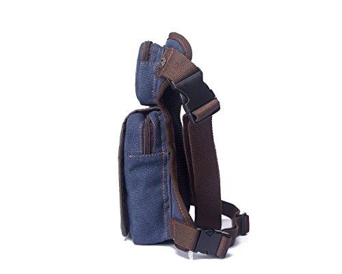 Genda 2Archer Tela Sacca da Gamba Outdoor Coscia Confezione Mezzo Belt Tattico Bag (Marrone scuro) blu scuro