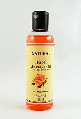 Huile de massage Néroli Natural Herbal Avec huile essentielle pour 100 ml Full Body