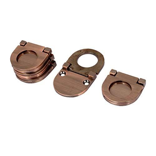 5Stk Schrank Brust Schubladen Metall Spülen Montage Ziehen Ring Griff Kupfer -