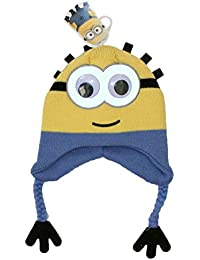 89d8e7124f3 Official Licensed Despicable Me Bob The Minion Design Peruvian Hat Rotating  Eyes Ages 3-6 Years Yellow