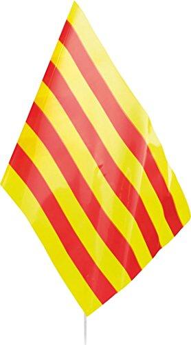 Verbetena - Bandera palo Cataluña 20x30 cm, pack 25 unidades (011200003)