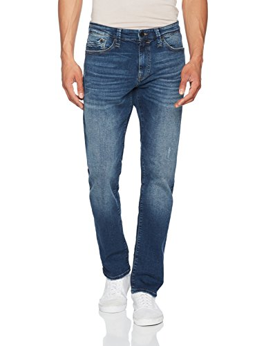 Mavi Herren Straight Jeans Marcus Blau (Deep Brushed Ultra Move 23743)