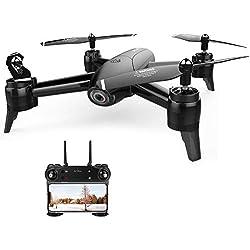 Drone avec Deux caméras 1080P HD SG106 WiFi FPV Helicoptère 2.4G Télécommandé Quadcopter avec Mode Sans Tête, Positionnement Précis, Fonction de Suivi Automatique, Pour Les Débutants et Les Enfants
