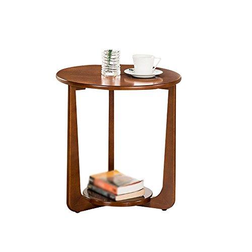 C-T-G Table De Chevet Table Basse en Bois Massif Canapé Tables D'appoint Tables Basses Table D'appoint Mobilier De Table Moderne Chambre (assemblé, Taille: 50 * 53.5cm) (Couleur : Noyer Couleur)