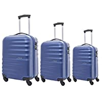 American Tourister Preston Hardside Spinner Luggage set of 3pieces with TSA Lock - Blue