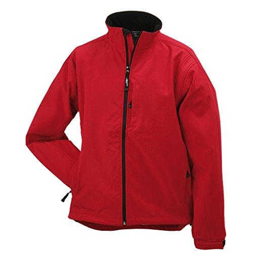 JAMES & NICHOLSON Trendige Jacke aus Softshell für Kinder Red