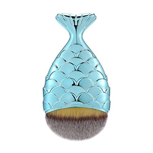 Anself 1pc Cosmetico di Trucco Professionale Mermaid Fondazione Blusher della Polvere di Fronte Spazzola