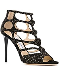 Jimmy Choo sandalias de tacón en piel de negro - Número de modelo: REN100UOP164