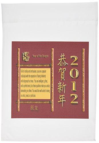 3dRose FL_30954_1 Jahr des Drachens, Happy New Year in Chinese 2012, Gartenflagge, 30,5 x 45,7 cm (Garden Flags New Jahren)