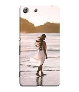 PrintVisa Designer Back Case Cover for Sony Xperia Z3 Compact :: Sony Xperia Z3 Mini (Ocean Sea Waves Dress Mountains Sky)