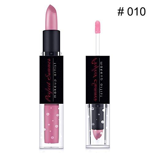 Zokra - Matte Fashion Rouge ¨¤ l¨¨vres 12 couleurs Rouge Sexy Rouge ¨¤ l¨¨vres Lip Gloss & Marque Parfait l'¨¦t¨¦ Lasting Rouge ¨¤ l¨¨vres Maquillage Kit Set l¨¨vres [10]