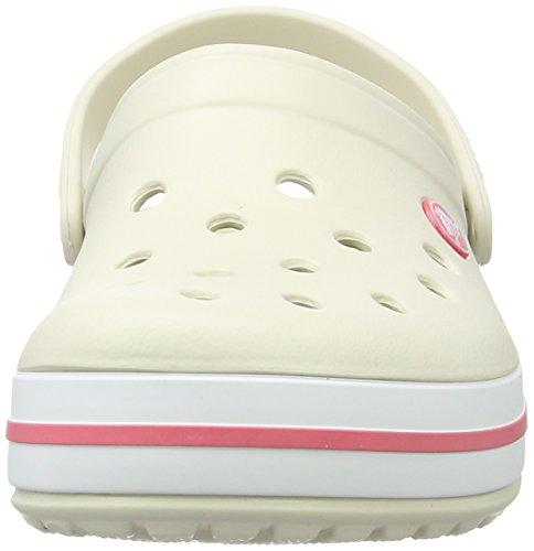 crocs Unisex-Erwachsene Crocband Clogs Beige (Stucco/Melon)
