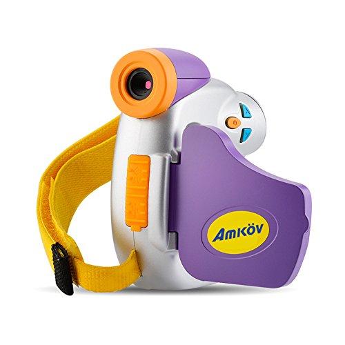 AMKOV 1.5inch Cámaras Infantiles Digitales Videocámara de 5 Megapíxeles con Pantalla de Color Juguetes para Niños Regalo de Fiesta