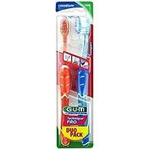 GUM Technue Pro Brosse à dents pack duo médium