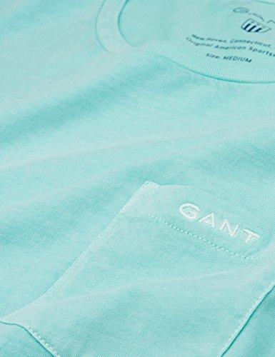 GANT Herren Sunbleached Ss T-Shirt Green (Opal Green)