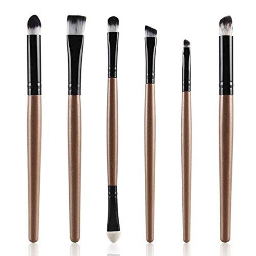 Make-up-Pinsel,6er-Pack Professionelle Make-up-Pinsel Make-up-Pinsel Lidschatten-Pinsel mit...