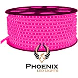 High Quality Waterproof LED Rope Light With Adapter For Decoration - 10 - Meters - Pink Color (Phoenix Light)