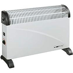 Clatronic KH 3077 - Convector con termostato regulable, 3 niveles de temperatura, con regulador de potencia para un bajo consumo