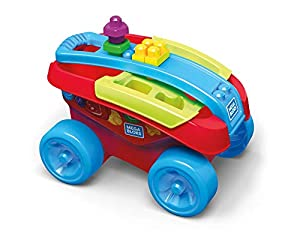 Mega Bloks Carrito Encajabloques, juguete de construcción para bebé +1 año (Mattel FVJ47)