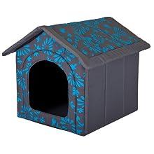 Hobbydog Dog or Cat Kennel/Bed R4 Blue Flowers Design