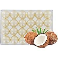 Caja de 24 perlas de aceite de baño nacaradas - Coco blanco